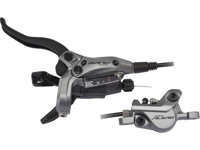 Shimano Alivio BR-M4050 Scheibenbremse/Schalthebel Vorderrad grau